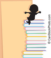 happy children school and books background - happy...