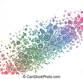 Abstract background with colorful circle. Vector