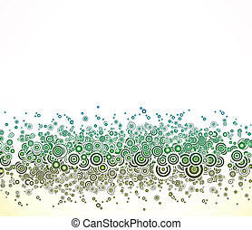 Abstract background with green circles. Vector