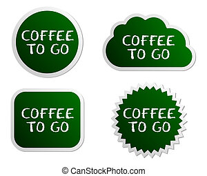 Coffee to go buttons