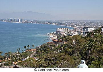Scenic coast by the Pacific Ocean - Scenic Puerto Vallarta...