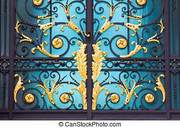 Old door patterns Alloys in thai