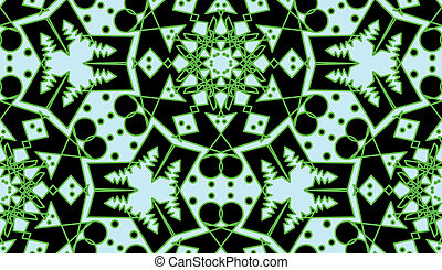 Green Circular Seamless Pattern