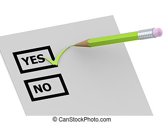 Say yes - Rendered artwork with white background