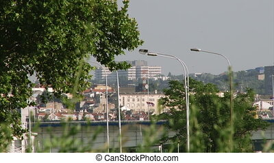 Belgrade, summer, city - Belgrade, Bridge, buildings,...