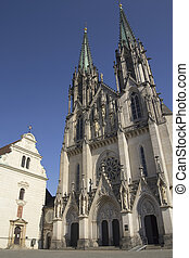 Saint Wenceslas Cathedra in Olomouc(Czech Republic. ) -...