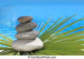 Zen, pedras, piramide