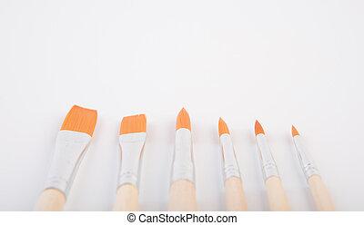 paint brush on white background