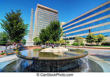 Asheville - Pack Square in downtown Asheville, North...
