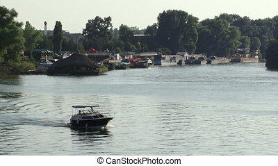 Belgrade, Danube river, boats