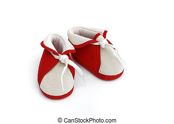 shoes - single small kid shoes isolated on white background