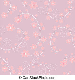 Light pink seamless pattern with gentle flowers, eps 8