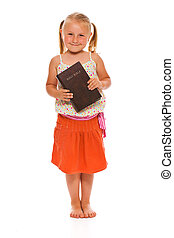 little girl with holy bible - The little girl with holy...