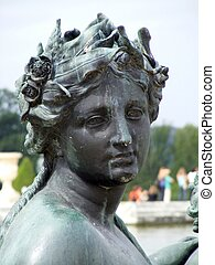 Bronze stature of woman - Bronze statue of woman in...