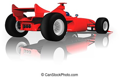 Ferrari F1 from Back - Ferrari F1 Back - highly detailed...