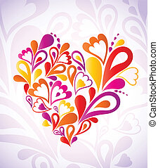 Abstract heart colorful. Vector
