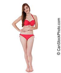girl in bikini - Attractive teenage girl in bikini. All on...