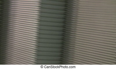Part of metal conveyor endless loop - Part of metallic...