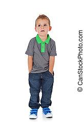 Cute little boy - Full length shot of a cute litte boy. All...