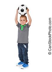 Boy with soccer ball - Full length shot of a cute litte boy...