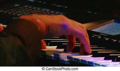 Electric piano, colorful light