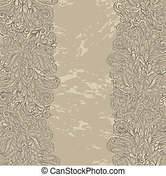 Floral design border in renaissance style-model for design...