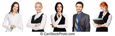 Business team over white background