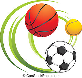 Sporting balls Vector illustration