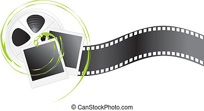 Film objects isolated on the white