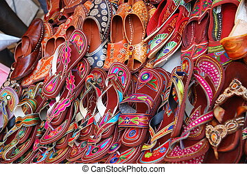Shoes - Colorful traditional shoes for sale in Jodhpur,...