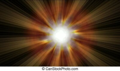 explosion power rays laser energy field in space.
