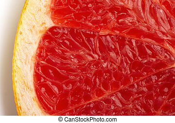 Grapefruit-3 - The cut of red grapefruit Macro