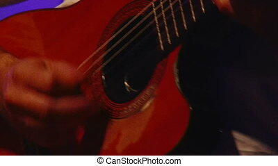 Acoustic guitar, live - Acoustic guitar, stage, night