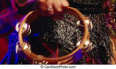 Tambourine, closeup - Gypsy Music, Tambourine