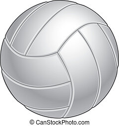 Volleyball illustration in black and white. Great for print...