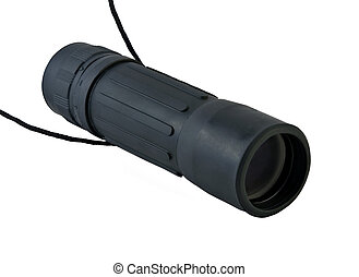 Monocular - Black monocular isolated on a white background