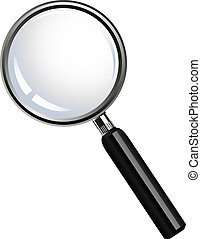 Magnifier glasses - vector illustration of Magnifier