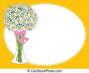 Daisy Vase - Vase of daisies - perfect for scrapbooking or...
