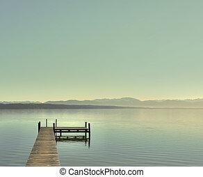 Bright day at the lake