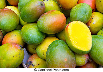 Mangos - Fresh mangos seen on a weekly fruit market
