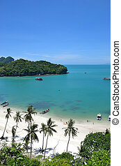 angthong national marine park - landscape bird eye view of...