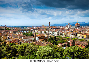 Panorama view of Firenze (Florence) and the Renaissance...