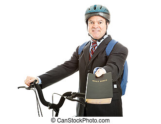 Bicycle Bible Salesman - Bicycle salesman or missionary...