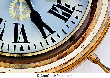 Twenty Five Past - Nautical clock in San Diego with Roman...