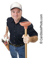 Plunger Man - Handsome plumber eager to tackle your plumbing...