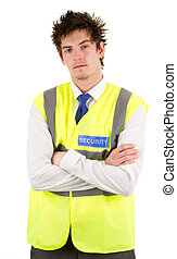 Serious security guard - A serious looking security guard...