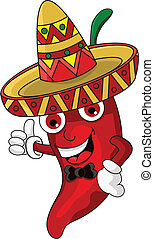 chili cartoon cute - vector illustration of chili cartoon...