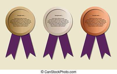 Medals with copy-space, symbol for winning and success,...