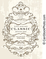 Vector Hand Drawn Ornate Frame. Easy to edit. Perfect for...