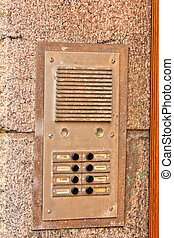 Intercom. Electronic device for intercommunication. Security system